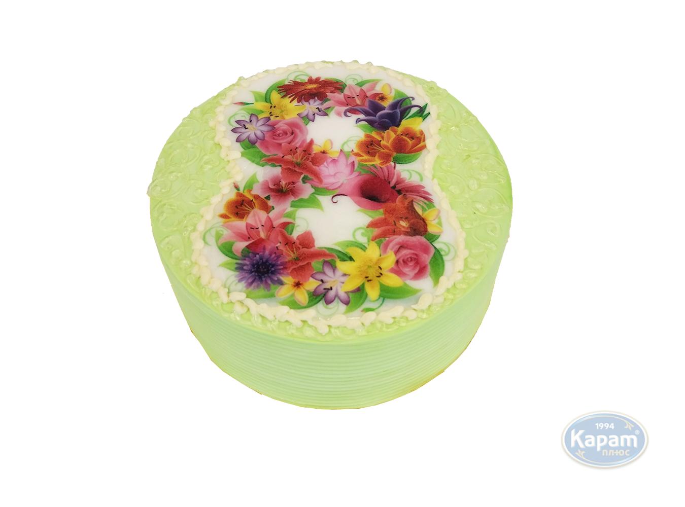 Торт заказной фотопечать 8 марта