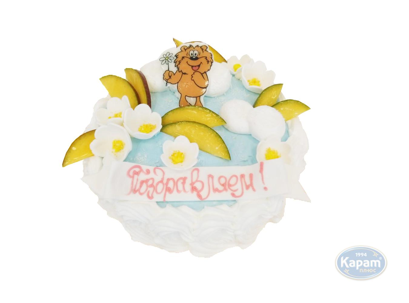 """Торт заказной """"Поздравляем с 8 марта!"""""""